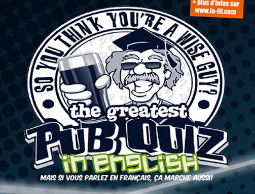 Goodsir Pub quiz<br>2 oct. 2019